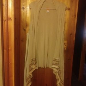 *Ruby Rd. Open Waterfall Front Sleeveless Cardigan